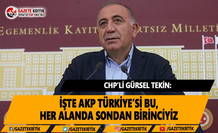 CHP'li Tekin: İşte AKP Türkiye'si Bu, Her...