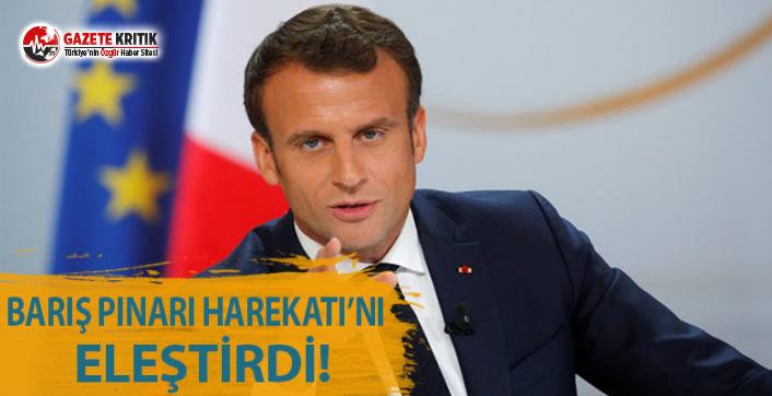 Macron'dan Barış Pınarı Harekatı'na Eleştiri