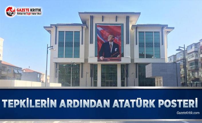 Tepkilerin Ardından Atatürk Posteri Asıldı