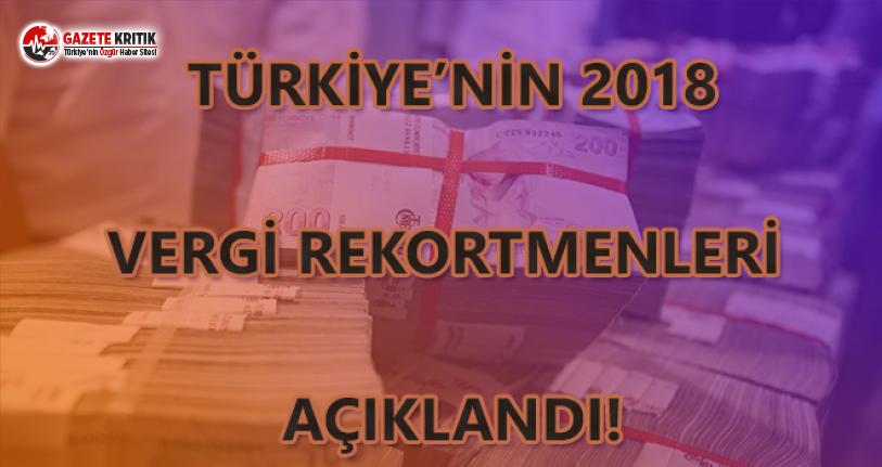 Türkiye'nin 2018 Vergi Rekortmenleri Açıklandı!