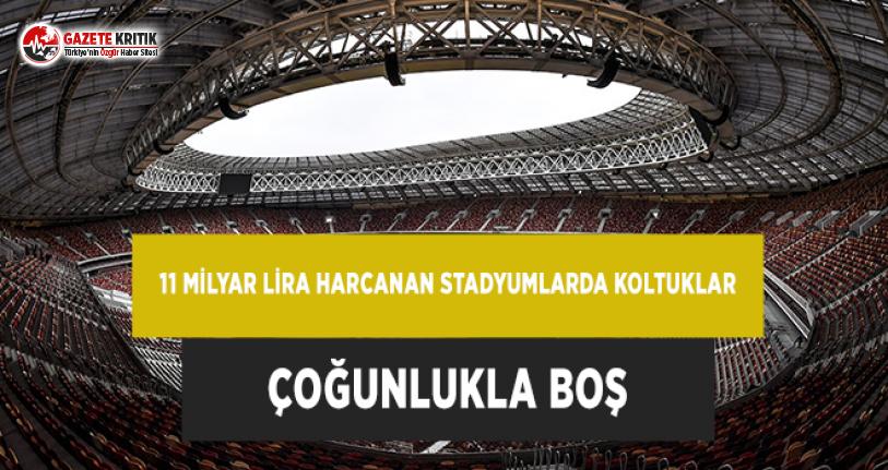 11 Milyar Lira Harcanan Stadyumlarda Koltuklar Çoğunlukla Boş!