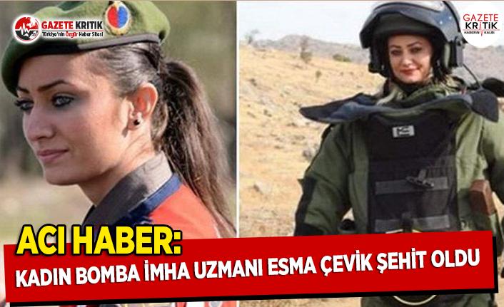 Acı Haber: Kadın Bomba İmha Uzmanı Esma Çevik Şehit Oldu