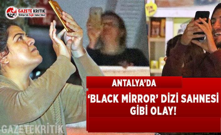 Antalya'da 'Black Mirror' Dizi Sahnesi...