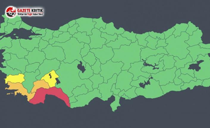 Antalya İçin İlk Kez 'Kırmızı Kod'...