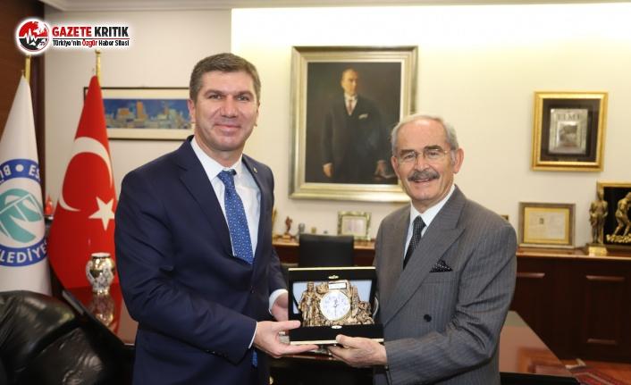 Başkan Ercengiz'den Başkan Büyükerşen'e Ziyaret