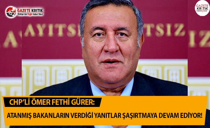 CHP'li Gürer: Atanmış Bakanların Verdiği...