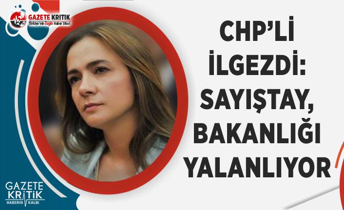 CHP'li İlgezdi: Sayıştay, Bakanlığı Yalanlıyor