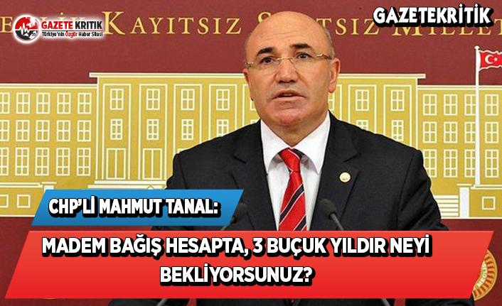 CHP'li Tanal: Madem Bağış Hesapta,3 Buçuk...
