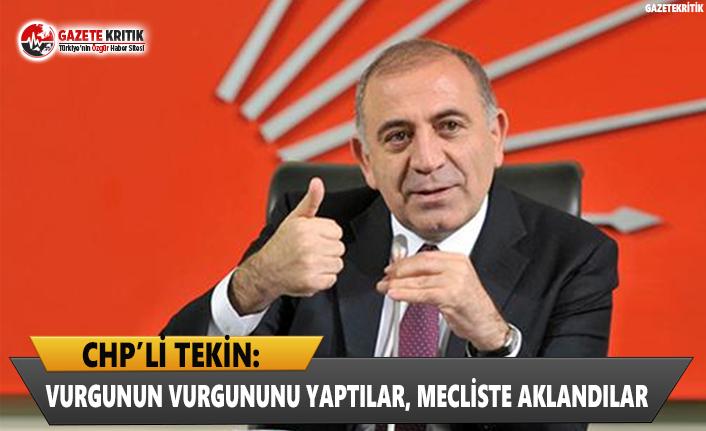CHP'li Tekin: Vurgunun Vurgununu Yaptılar, Mecliste...