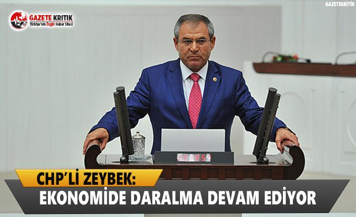 CHP'li Zeybek: Ekonomide Daralma Devam Ediyor