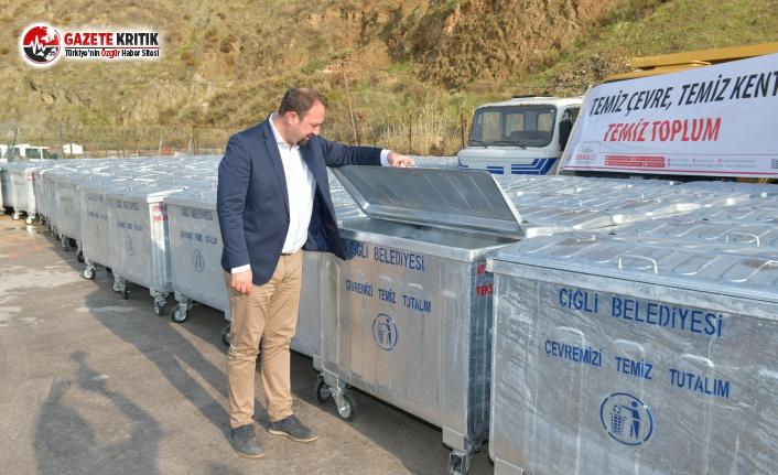 Çiğli'de Çöp Konteynerleri Yenileniyor