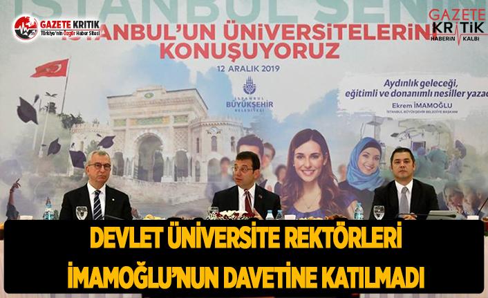 Devlet Üniversitesi Rektörleri Başkan İmamoğlu'nun...