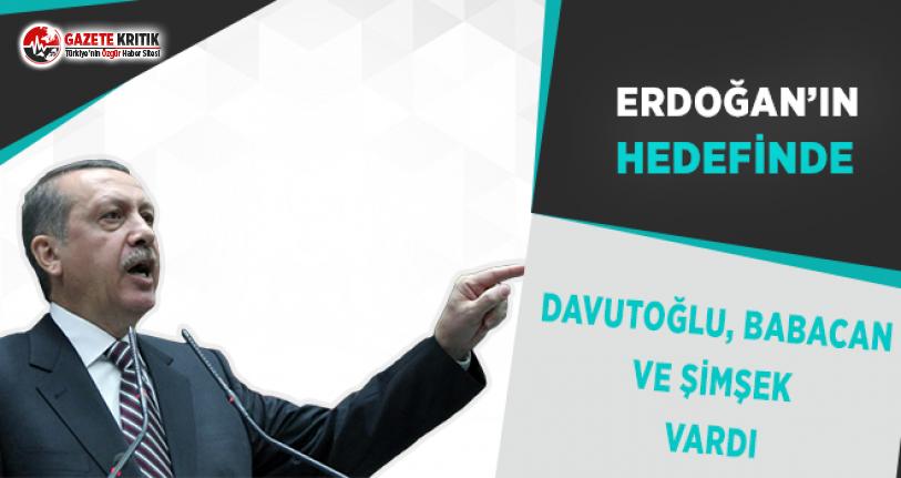 Erdoğan'ın Hedefinde Davutoğlu, Babacan ve Şimşek Vardı