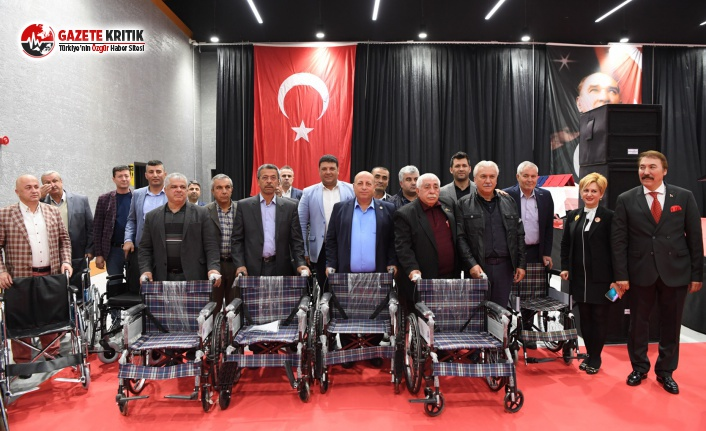 Konyaaltı'nda Tüm Muhtarlara Tekerlekli Sandalye