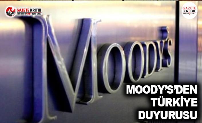 Moody's'den Türkiye Duyurusu