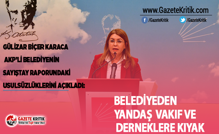 AKP'Lİ BELEDİYEDEN YANDAŞ  VAKIF VE  DERNEKLERE KIYAK