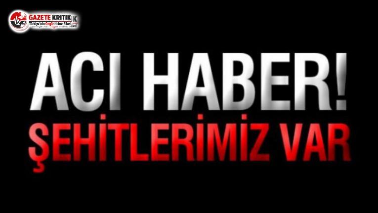 Barış Pınarı Harekâtı Bölgesi'nden acı haber: Şehitlerimiz var!