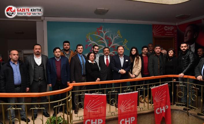 Başkan Ali Kılıç'tan CHP İlçe Başkanlığı'na tebrik ziyareti