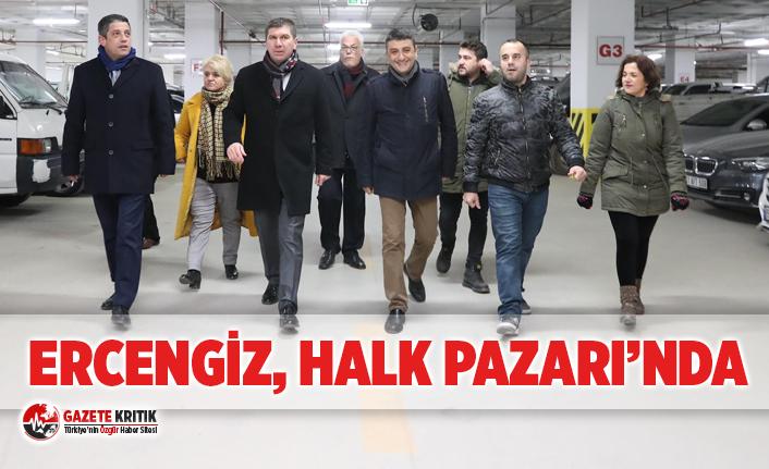 Başkan Ali Orkun Ercengiz, Halk Pazarı'nda...