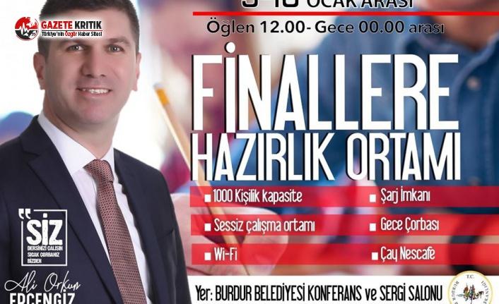 Başkan Ercengiz'den MAKÜ öğrencilerine Finallere Hazırlık Ortamı