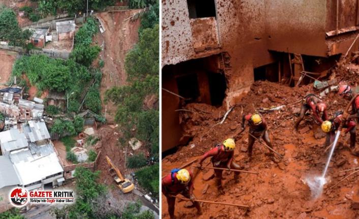 Brezilya'da sel ve heyelan felaketi! Çok sayıda ölü var