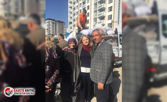 CHP Kadın Kolları Genel Başkan A. Adayı Ayten Gülsever deprem bölgesinde