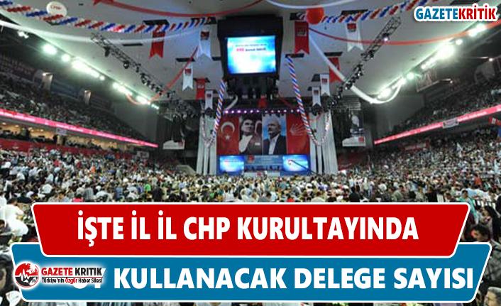 CHP kurultayında hangi ilden kaç delege oy kullanacak?