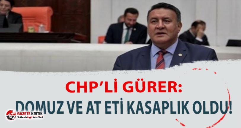 CHP'li Gürer: ''Domuz ve at eti AKP döneminde kasaplık oldu''