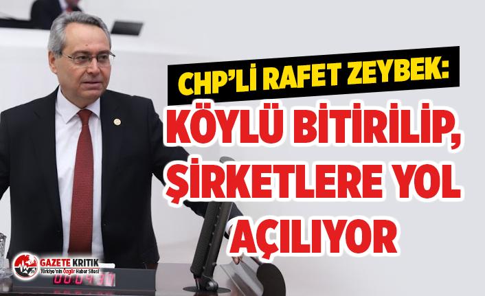 CHP'li Rafet Zeybek: Köylü Bitirilip Şirketlere Yol Açılıyor