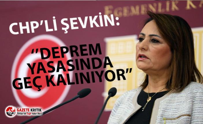 CHP'li Şevkin: ''Depreme ilişkin yasal düzenlemelerde geç kalınıyor''