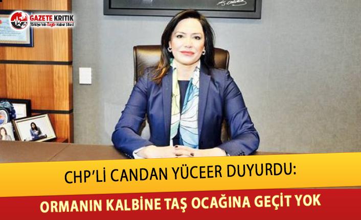 CHP'Lİ YÜCEER DUYURDU:ORMANIN KALBİNE TAŞ...