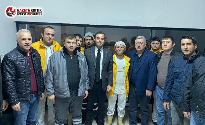 CHP'Lİ AHMET AKIN YÖRSAN İŞÇİLERİNİ ZİYARET...