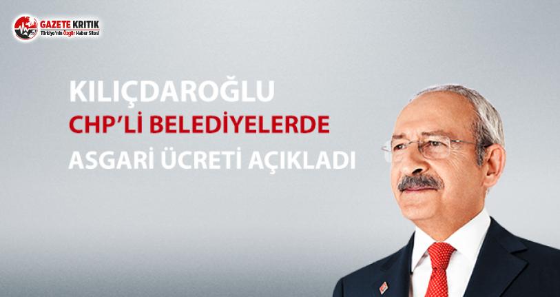 CHP'li belediyelerde asgari ücret açıklandı