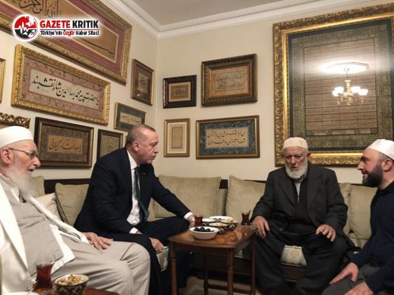 Cumhurbaşkanı Erdoğan, tarikat liderini evinde ziyaret etti