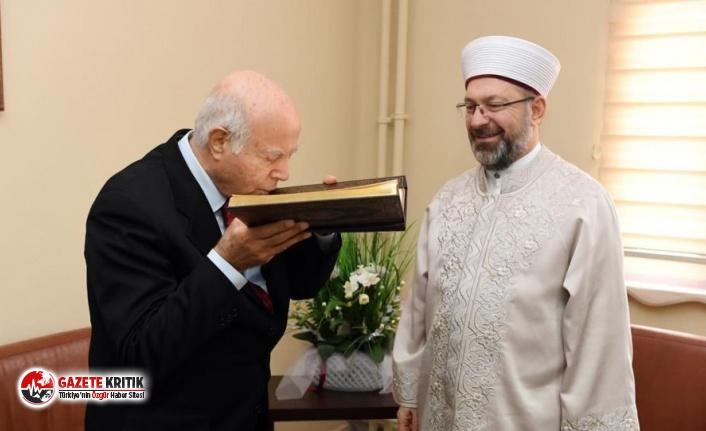 Diyanet İşleri Başkanı Erbaş, Cem Vakfı'nı ziyaret etti: 'Kuran-ı Kerim hepimizin kitabı'