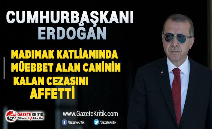 Erdoğan, Madımak Katiamında müebbet alan caninin kalan cezasını affetti