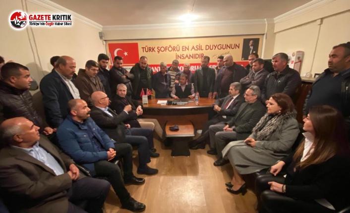 İYİ Parti ve CHP'li vekiller Kamyoncuları dinledi