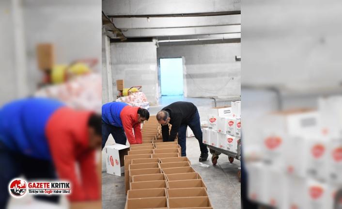 Konyaaltı Belediyesi'nden depremzedelere yardım