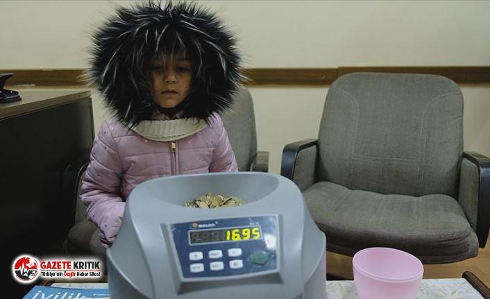 Minik Zeynep,  harçlıklarını İdlib'deki çocuklara bağışladı