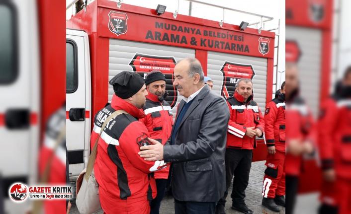 Mudanya Belediyesi Arama Kurtarma Birliği (MAK) , deprem bölgesinden döndü