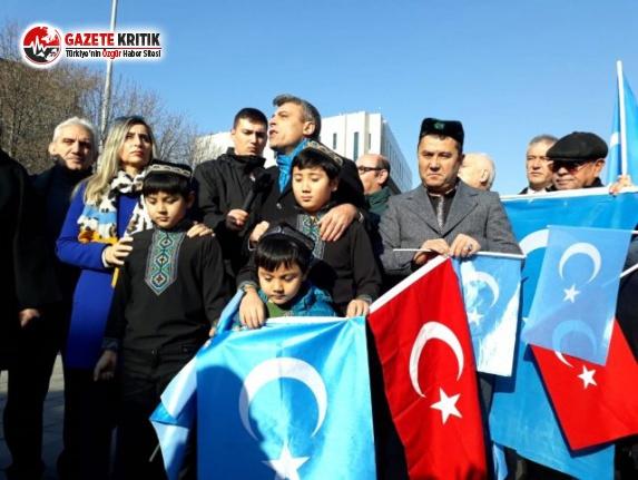 Öztürk Yılmaz, Uygur Türklerine destek eylemine...