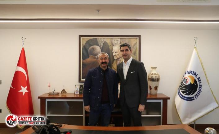 Tunceli Belediye Başkanı Fatih Mehmet Maçoğlu, Başkan Gökhan Yüksel'i ziyaret etti