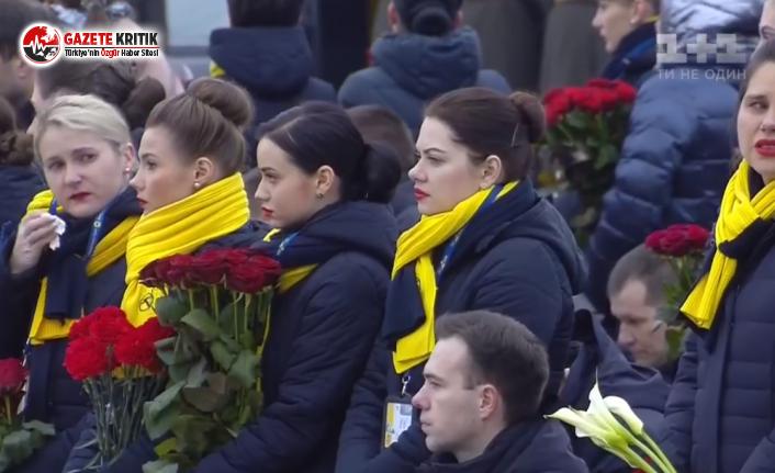 Ukrayna, düşen uçakta ölen 11 vatandaşını uğurluyor...