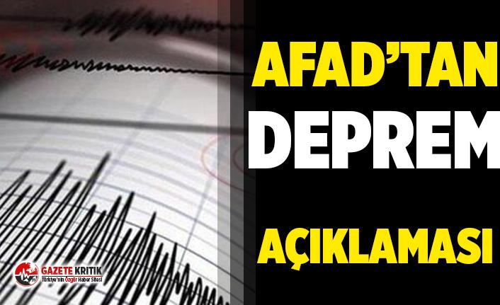 AFAD: Akdeniz'de 4.4 büyüklüğünde deprem meydana geldi