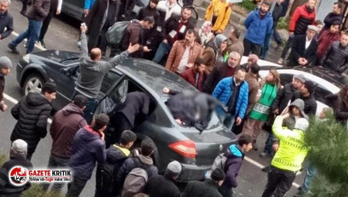 Akılalmaz kaza: Arka camdan içeri girdi!