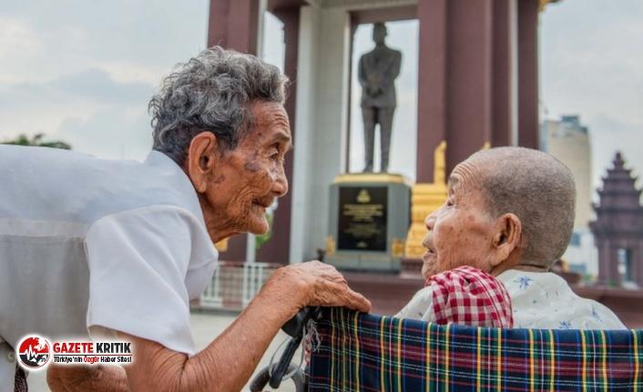 Biri 98, diğeri 101 yaşındaki iki kız kardeş 47 yıl sonra tekrar buluştu