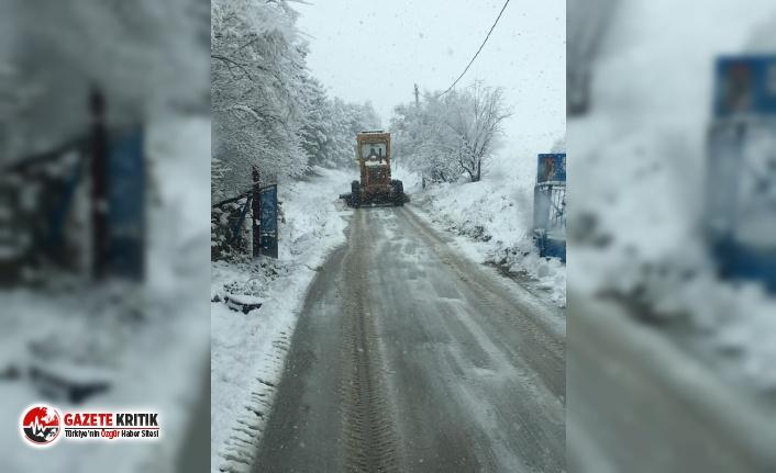 Burdur'da Karla Mücadele Devam Ediyor