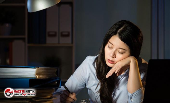 Çok fazla çalışmak yüksek tansiyon riskini artırıyor