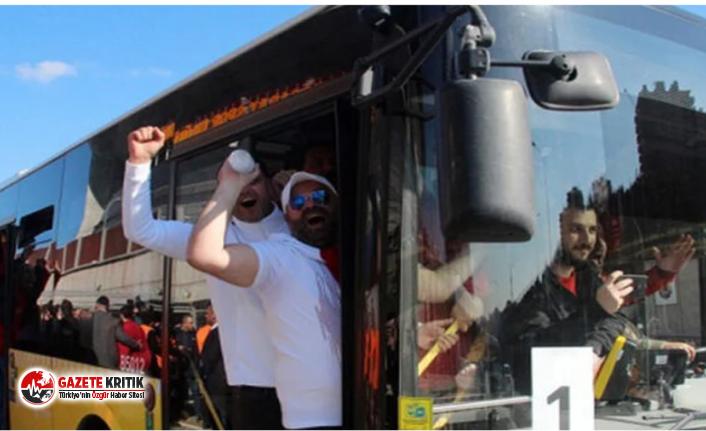 Derbi başlamadan olaylar başladı! Bir otobüs dolusu taraftar karakola çekildi
