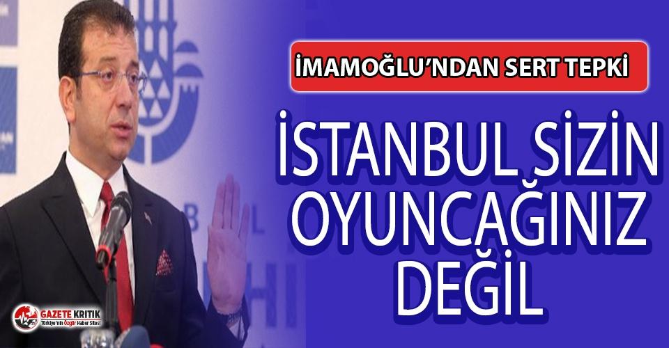 İmamoğlu'ndan UKOME için getirilen düzenlemeye tepki: İstanbul sizin oyuncağınız değil